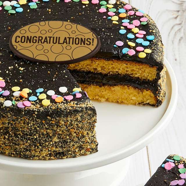 image of Golden Fudge Celebration Cake
