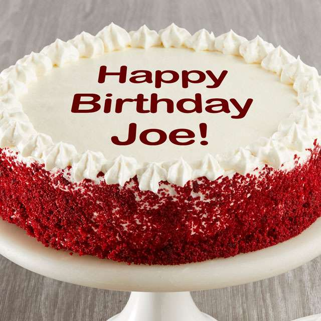 Image of Personalized Red Velvet Chocolate Cake