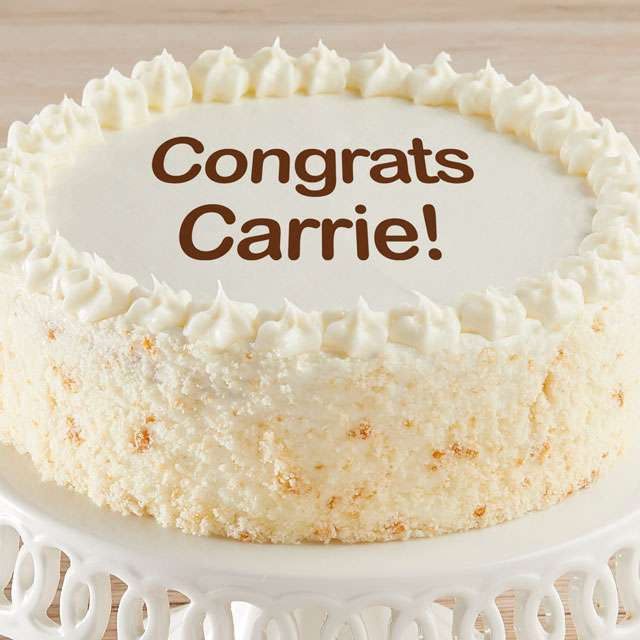 image of Personalized Vanilla Cake
