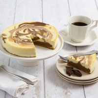Wide View Image Marble Swirl Cheesecake